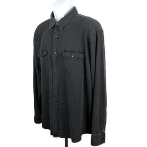 UNTUCKit Shirts - UNTUCKit Edgewood Black Denim L/S Shirt  XXL